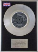 "MARVIN GAYE - 7"" Platinum Disc - WHEREVER I LAY MY HAT"